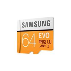 Micro SD Samsung - Evo mb-mp64ga - scheda di memoria flash - 64 gb - uhs-i microsdxc mb-mp64ga/eu