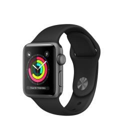 Smartwatch Apple - Watch3 GPS, 38mm Space Gray, Case in alluminio e Cinturino Nero