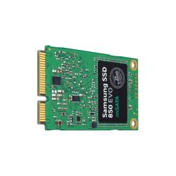 SSD Samsung 850 EVO MZ-M5E1T0BW - Disque SSD - chiffré - 1 To - interne - mSATA - SATA 6Gb/s - mémoire tampon : 1 Go - Self-Encrypting Drive (SED), TCG Opal Encryption