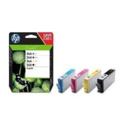 Cartuccia HP - 364xl - confezione da 4 - alta resa - nero, giallo, ciano, magenta n9j74ae