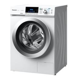 Lave-linge Panasonic NA-148XS1 - Machine à laver - pose libre - largeur : 59.6 cm - profondeur : 63.5 cm - hauteur : 84 cm - chargement frontal - 66 litres - 8 kg - 1400 tours/min - blanc