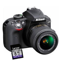 Fotocamera reflex Nikon - D3300 18-55 Garanzia Nital 4 anni