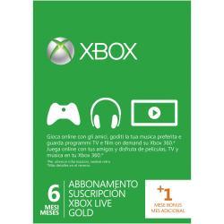Abbonamento Live Microsoft - Xbox 360 live 6+1 month gold card