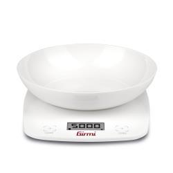 Bilancia da cucina Girmi - PS01 con Ciotola Max 5 kg Funzione Tara Bianco