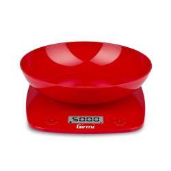 Bilancia da cucina Girmi - PS01 con Ciotola Max 5 kg Funzione Tara Rosso