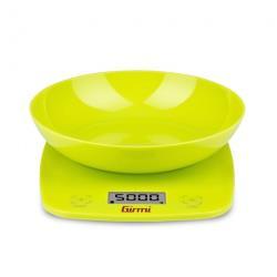 Bilancia da cucina Girmi - PS01 con Ciotola Max 5 kg Funzione Tara Verde