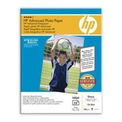 Carta fotografica HP - Advanced glossy photo paper - carta fotografica - lucido - 25 fogli q8696a