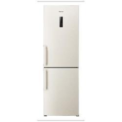 Réfrigérateur Hisense RB403N4BY1 - Réfrigérateur/congélateur - pose libre - largeur : 59.5 cm - profondeur : 68.3 cm - hauteur : 185 cm - 326 litres - congélateur bas - classe A+ - sable