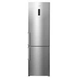 Réfrigérateur Hisense RB468N4BC2 - Réfrigérateur/congélateur - pose libre - largeur : 59.5 cm - profondeur : 72.5 cm - hauteur : 201 cm - 360 litres - congélateur bas - Classe A++ - inox