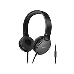 Panasonic RP-HF500ME - Casque avec micro - sur-oreille - jack 3,5mm - noir