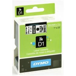 Nastro Dymo - D1 24mmx7m Nero/Bianco