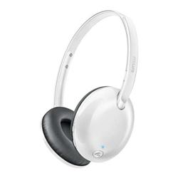 Philips SHB4405WT - Casque avec micro - sur-oreille - sans fil - Bluetooth - jack 3,5mm
