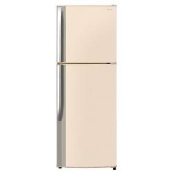 Réfrigérateur Sharp Doppia Porta Junior SJ-420VBE - Réfrigérateur/congélateur - pose libre - largeur : 60 cm - profondeur : 64.95 cm - hauteur : 170 cm - 312 litres - congélateur haut - classe A+ - beige