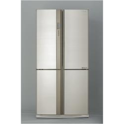 Réfrigérateur Sharp SJ-EX820FBE - Réfrigérateur/congélateur - pose libre - largeur : 89.2 cm - profondeur : 77.1 cm - hauteur : 183 cm - 605 litres - côte-à-côte - Classe A++ - beige
