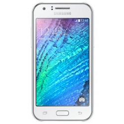 "Smartphone Samsung Galaxy J1 - SM-J100H - smartphone - 3G - 4 Go - microSDXC slot - GSM - 4.3"" - 800 x 480 pixels - TFT - 5 MP (caméra avant de 2 mégapixels) - Android - blanc"