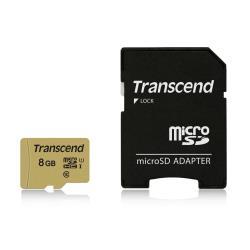 Micro SD Transcend - 500s - scheda di memoria flash - 8 gb - microsdhc ts8gusd500s
