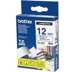 Nastro Brother - Tze-233 - nastro laminato - 1 cassetta(e) - rotolo (1,2 cm x 8 m) tze233