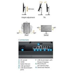 Monitor LED Dell - U2417hwi wi-fi