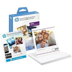 Carta fotografica HP - Social media snapshots - carta fotografica - morbido lucido - 25 fogli w2g60a