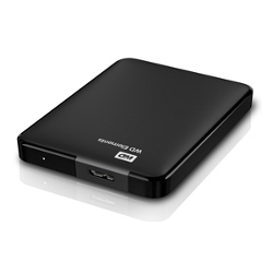 Hard disk esterno WESTERN DIGITAL - Elements portable 2tb black