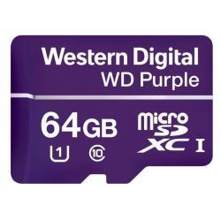 Micro SD Western Digital - Wd purple - scheda di memoria flash - 64 gb - microsdxc wdd064g1p0a