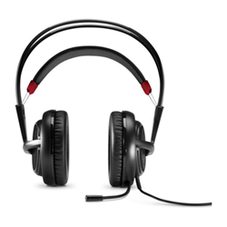 HP OMEN Headset with SteelSeries - Casque - pleine taille - jack 3,5mm - noir, rouge - pour OMEN by HP; OMEN X by HP
