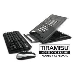 Kit tastiera mouse Hamlet - Tiramisu wireless kit - set mouse e tastiera xtms100kmw