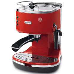 Macchina da caffè De Longhi - De'Longhi Icona ECO 311.R Rosso Caffè macinato, Cialde ESE