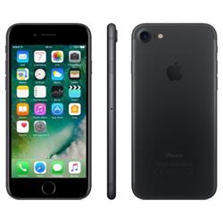 """Smartphone Apple iPhone 7 - Smartphone - 4G LTE Advanced - 128 Go - GSM - 4.7"""" - 1334 x 750 pixels (326 ppi) - Retina HD - 12 MP (caméra avant 7 MP) - noir mat"""