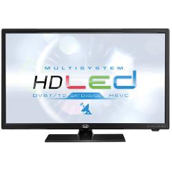 """TV LED trevi MULTISYSTEM LTV 2401 SAT - Classe 24"""" TV LED - 720p 1366 x 768 - D-LED Backlight - noir brillant"""