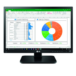 "Monitor LED LG - IPS 24"" 16:10 Linea Office Pivot"