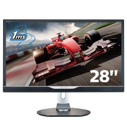 """Écran LED Philips Brilliance P-line 288P6LJEB - Écran LED - 28"""" - 3840 x 2160 4K - 300 cd/m² - 1000:1 - 5 ms - HDMI, DVI-D, VGA, DisplayPort - haut-parleurs - noir"""