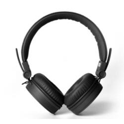 Fresh 'n Rebel Caps - Casque avec micro - sur-oreille - jack 3,5mm - isolation acoustique - noir
