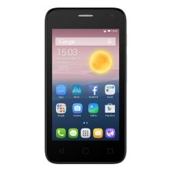 """Smartphone Alcatel One Touch Pixi First 4024D - Smartphone - double SIM - 3G - 4 Go - microSDHC slot - GSM - 4"""" - 800 x 480 pixels - TFT - 5 MP (caméra avant de 2 mégapixels) - Android - argent métallisé"""
