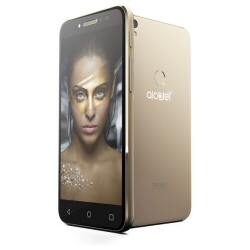 """Smartphone Alcatel SHINE LITE 5080X - Smartphone - 4G LTE - 16 Go - microSDXC slot - GSM - 5"""" - 1 280 x 720 pixels - IPS - 13 MP (caméra avant de 5 mégapixels) - Android - or satiné"""