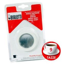 Bialetti - 3 Guarnizioni + 1 Piastrina per Caffettiera 9 tazze