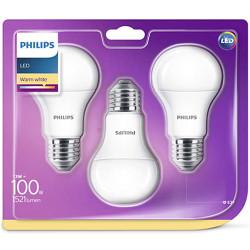 Lampadine LED Philips - Goccia E27, 100W, 3 Pezzi