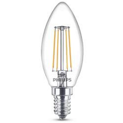 Lampadina LED Philips - Oliva E14, 4W Led Candle 2700°K