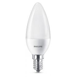 Lampadina LED Philips - Oliva bianco caldo E14, 60W