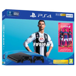 Console Sony - PS4 500GB F Chassis + FIFA19 + DualShock4 Wireless