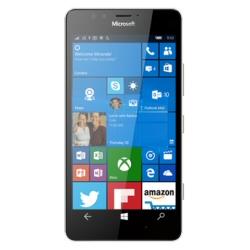 "Smartphone Microsoft Lumia 950 - Smartphone - 4G LTE - 32 Go - microSDXC slot - GSM - 5.2"" - 2560 x 1440 pixels (564 ppi) - AMOLED - 20 MP (caméra avant de 5 mégapixels) - Windows 10 - blanc"