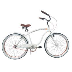 Image of Bicicletta BeCruiser Limited ed + cestino Taglia S bianco