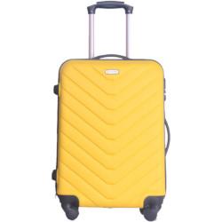 Valigia Smartway - Trolley da cabina, colore giallo e nero 40,5 x 20 x 56,5 cm