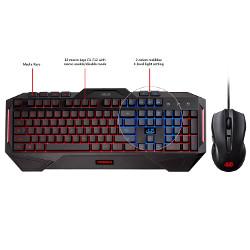 Kit tastiera mouse Asus - Cerberus combo