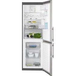 Réfrigérateur Electrolux EN3454NOX - Réfrigérateur/congélateur - pose libre - largeur : 59.5 cm - profondeur : 64.7 cm - hauteur : 184.5 cm - 318 litres - congélateur bas - Classe A++ - inox