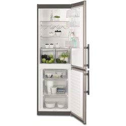 Réfrigérateur Electrolux EN3613JOX - Réfrigérateur/congélateur - pose libre - largeur : 60 cm - profondeur : 65 cm - hauteur : 185 cm - 347 litres - congélateur bas - classe A+ - inox