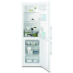 Réfrigérateur Electrolux EN3613MOW - Réfrigérateur/congélateur - pose libre - largeur : 59.5 cm - profondeur : 64.7 cm - hauteur : 184.5 cm - 329 litres - congélateur bas - Classe A++ - blanc