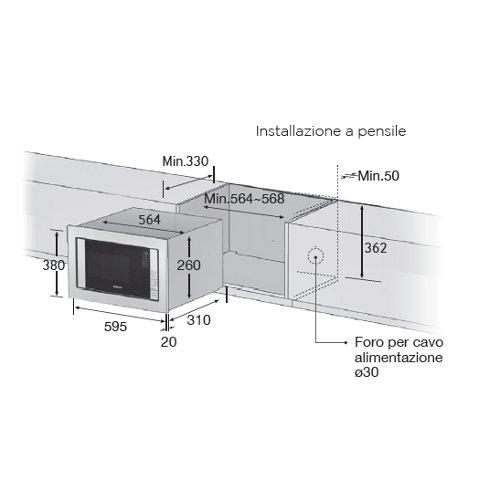 Forno a microonde da incasso Samsung G77SUST FG77SUST | eBay