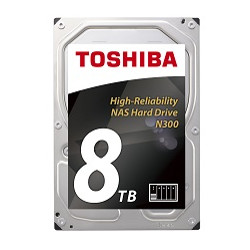 Hard disk interno Toshiba - N300 nas high reliability 8tb