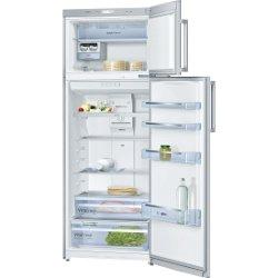 Réfrigérateur Bosch KDN46VL20 - Réfrigérateur/congélateur - pose libre - largeur : 70 cm - profondeur : 65 cm - hauteur : 185 cm - 375 litres - congélateur haut - classe A+ - inoxLook